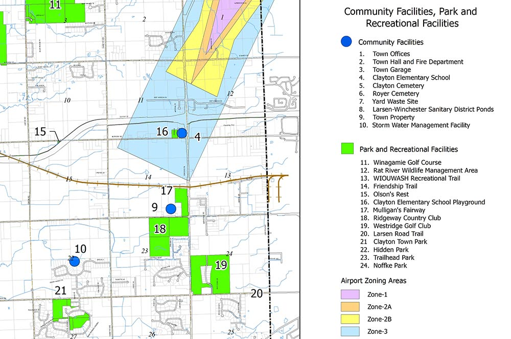 Planning and Zoning Map of Neenah, Wisconsin